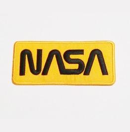 Yellow Nasa Badge Iron On Patch.