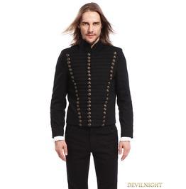 Black Gothic Vintage Short Jacket For Men M080072