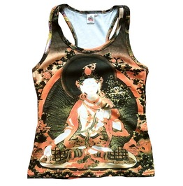 White Tara Buddha Tipet Nepal Tattoo Tank Top Shirt M