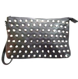 Cool! Black Studded Clutch Bag Zipped