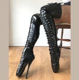 Rtbu Justin 60cm Fetish Corset Dominatrix Knee/Thigh/Crotch Boot Black