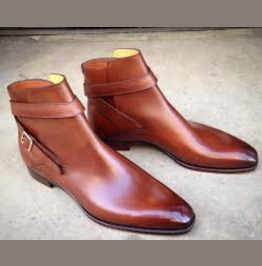 Handmade Jodhpurs Boots For Men, Men Ankle Leather Boots, Leather Boot Mens