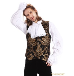 Gold Printing Pattern Gothic Vest For Men Y010023 A