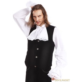 Black Gothic Vest For Men Y010023 B