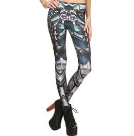 Steampunk 3 D Print Iron Gladiator Cosplay Design Leggings Women