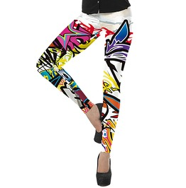 Punk Graffiti Cosmic Doodles Leggings Women