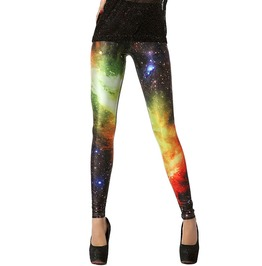 Punk Harajuku Gradient Space Galaxy Interstellar Printed Leggings Women