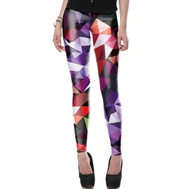 Punk Harajuku Geometric Boho Art 3 D Print Leggings Women