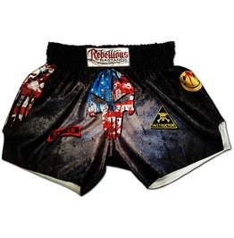 Muay Thai Shorts Punisher Usa Skull Head Dilligaf Boxing Trunks Sublimation