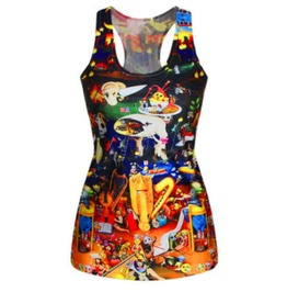 Awesome Colourful Design Vest Top T Shirt One Size