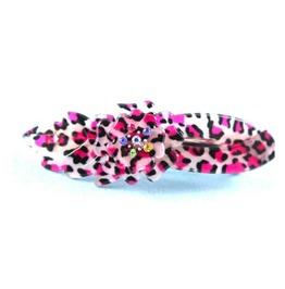 Pretty Pink Leopard Print Plastic Hair Clip