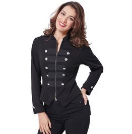 Gothic Military Ladies Long Sleeve Decoration Zipper Jacket