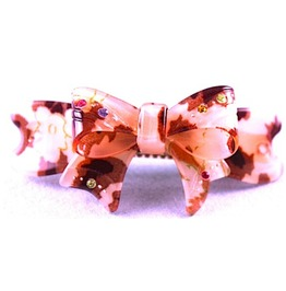 Cool Camoflague Print Plastic Bow Design Hair Clip