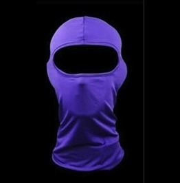 Cool Purple Biker Face Mask Balaclava Thin Fabric