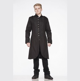 Gothic Steampunk Cyber Coat Mens Military Parade Tunic Rock Jacket