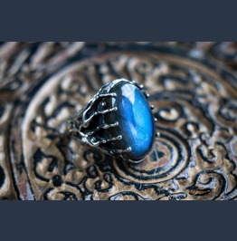 "Sterling Silver Labradorite Ring ""Alien"" Made To Order"