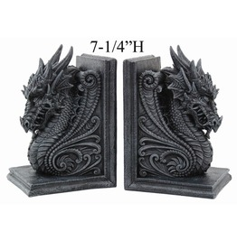 Dragon Bookend Set V8266