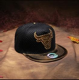 Bull Adjustable Mesh Cap,Snapback Flat Hat, Hip Hop Unisex Baseball Caps