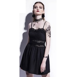 Lace Waist Black Dress Womens