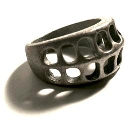 Cool Skeleton Design Mid Grey Metal Ring Us Size 10