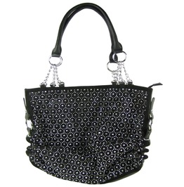 Lack Laser Cut Design Look Shoulder Handbag