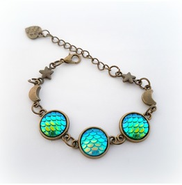 Dragon Scale Bracelet, Fantasy Jewelry