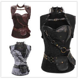 Fashion Steampunk Bustier Corset Gothic Cosplay Costumes