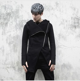 New Autumn Fashion Mens Zip Up Hoodies Slim Fit Warm Coat