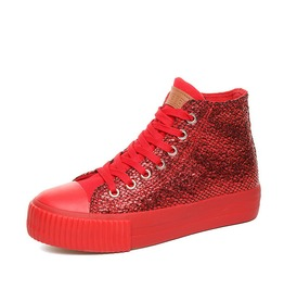 Women Platform Casual Canvas Wedges Shoes Mid Heels Fashion Cute Sneakers