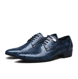 Casual Classic Mens Shoes,Python Pattern Leather Business Men Dress Shoes