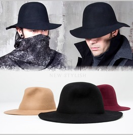 Plain Long Brim Wool Fedora 29