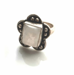 Pretty Moonstone Gemstone 925 Ring Uk L Us 6