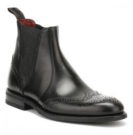 Handmade Mens Wingtip Brogue Chelsea Leather Boots, Men Chelsea Boots