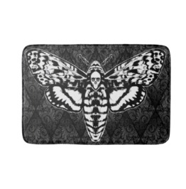 Death Head Moth Bath Mat Rug
