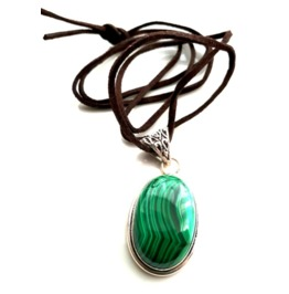 Awesome Malachite & 925 Silver Pendant