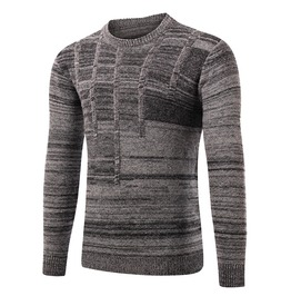 Men's Round Neck Heathered Pullover Sweater