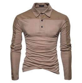 Men's Casual Fashion Contrast Color Polo Shirt