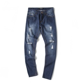 Men's Fashion Distressed Straight Leg Jeans Pants