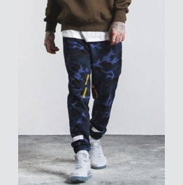 Men's Fashion Colorblock Color Camouflage Joggers