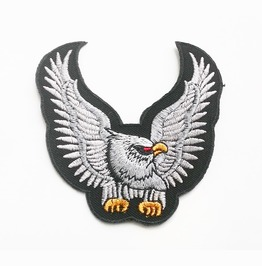 Eagle Wings Spread Embroidered Iron On Patch.