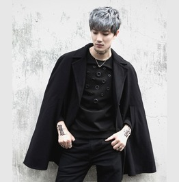 New Fashion Mens Wool Blend Cloak