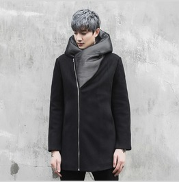 New Winter Cotton Coats Mens Slim Fit Hooded Jacket