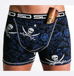 Pirate Smuggling Duds Boxer Shorts, Boxer Briefs