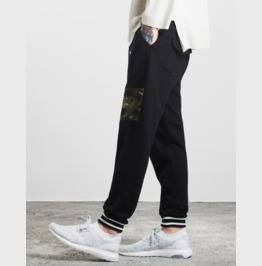 Men's Camouflage Patchwork Drawstring Joggers