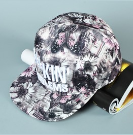 Hip Hop Casual Snapback Flat Hat,Fashion Color Printing Unisex Baseball Cap