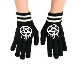 Sporty Gram Graffiti Pentagram Varsity Stripe Gloves