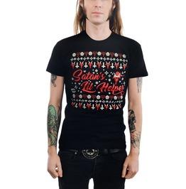 Satan's Lil Helper Evil Mens Christmas T Shirt
