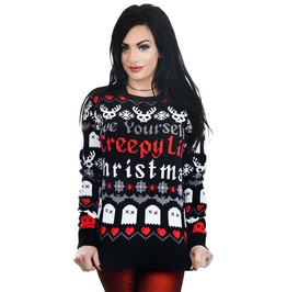 Have Yourself Creepy Lil Christmas Ugly Christmas Sweater