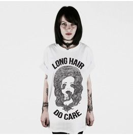 Long Hair Do Care T Shirt