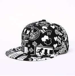 Hip Hop Graffiti Baseball Cap Flat Shade Hat,Totem Women Men Sports Hat